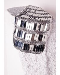 Missguided | Metallic Waterfall Tier Drop Necklace Silver | Lyst