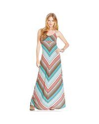 American Rag - Blue Chevron-print Maxi Dress - Lyst