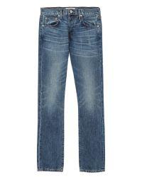 Baldwin Denim Blue Henley Light Wash Jeans for men