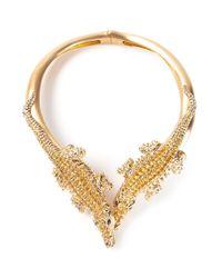 Giuseppe Zanotti | Metallic Crocodile Necklace | Lyst