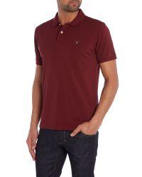 GANT - Red Pique Polo Shirt for Men - Lyst