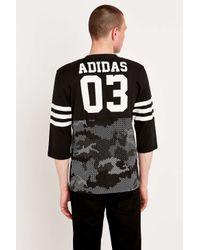 Adidas Originals | Quarterback Snow Panel Black Tee for Men | Lyst