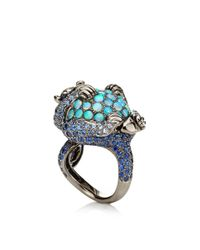 Wendy Yue | Blue Opal and Diamond Monkey Ring | Lyst