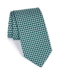 Ferragamo | Green Grasshopper Print Silk Tie for Men | Lyst