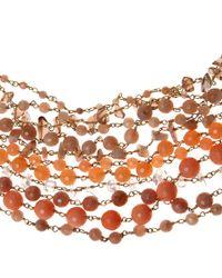 Rosantica Orange Sunstone Prato Fiorito Necklace