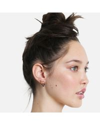 Tada & Toy | Shark Tooth Earring Rose Gold And Black | Lyst