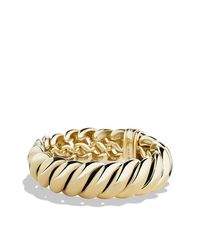 David Yurman | Metallic Bracelet In 18k Gold | Lyst