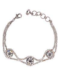 Ted Baker | Stelle Swarovski Crystal White Bronze Plated Chain Bracelet | Lyst