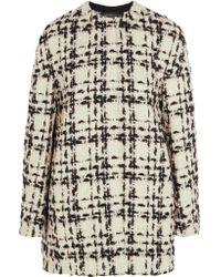 Giambattista Valli | White Wool-blend Bouclé-tweed Coat | Lyst
