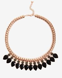Ted Baker - Black Crystal Chain Necklace - Lyst