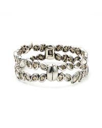 Alexis Bittar - Metallic Antique Set Crystal Stacking Hinge Bracelet - Lyst