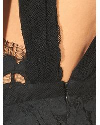 Adam Lippes Black Floral and Lattice Lace Gown