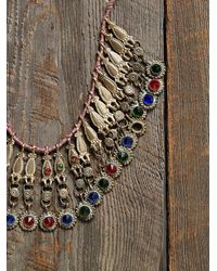 Free People - Metallic Womens Vintage Glass Bead Drop Necklace - Lyst