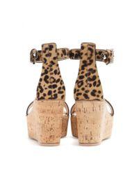 Gianvito Rossi Multicolor Calf Hair Wedge Sandals