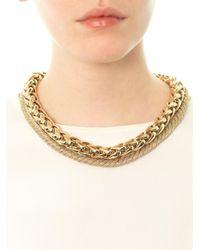 Max Mara Metallic Norma Necklace