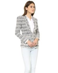 Rebecca Taylor | Blue Diamond Tweed Blazer Navy | Lyst