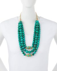 Devon Leigh | Green Triple-strand Turquoise Necklace | Lyst