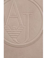 Armani Jeans | Natural Logo-Embossed Faux-Leather Shopper | Lyst