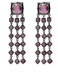 Larkspur & Hawk - Pink Large Rose Gold Quartz Earrings - Lyst