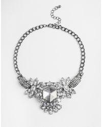 Girls On Film - Metallic Large Jewelled Statement Necklace - Lyst