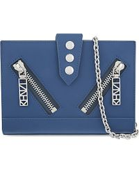 KENZO - Mini Kalifornia Chain Clutch, Women's, Duck Blue - Lyst