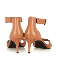 DKNY Brown Gianna Leather Sandals