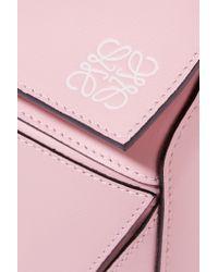 Loewe Pink Puzzle Medium Leather Bag