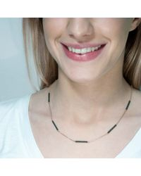 Tada & Toy - Metallic Sky Atlas Necklace Gold With Silver Bars - Lyst