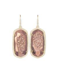 Kendra Scott | Pink Ellen Druzy Statement Earrings | Lyst