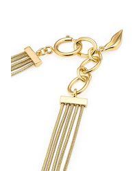Diane von Furstenberg - Metallic Gold Plated Necklace - Gold - Lyst