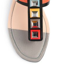 Fendi Pink Studded Gladiator Sandals