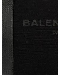 Balenciaga - Black Logo Cotton-Canvas Tote for Men - Lyst