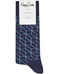 Happy Socks | Blue Optic Print Socks for Men | Lyst