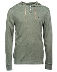 Volcom | Green Murphy Thermal Hoodie for Men | Lyst