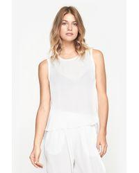 Raquel Allegra - White Sleeveless Shirt - Lyst