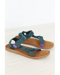 Teva | Green Suede Original Universal Men's Sandal for Men | Lyst