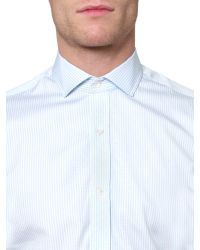 Aquascutum Blue Wilson Gingham Long Sleeve Shirt for men