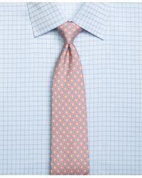 Brooks Brothers | Pink Small Medallion Print Tie for Men | Lyst
