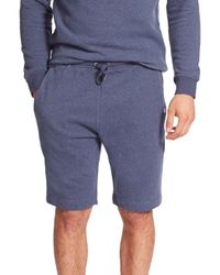 Derek Rose | Blue Devon Cotton Sweat Shorts for Men | Lyst