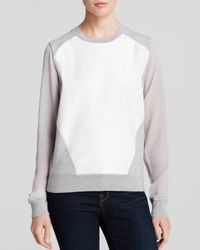 Rebecca Minkoff Gray Sweater Leon Leather Front