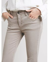 Free People Gray Womens Destroyed Skinny