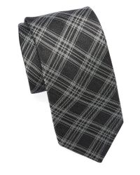 Michael Kors | Black Plaid Tie for Men | Lyst