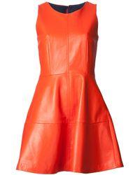 Sea - Orange Exclusive Leather Dress - Lyst