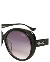 KENZO Purple Big Rounded Acetate Sunglasses