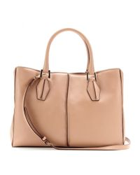 Tod's Pink D-Cube Medium Leather Tote