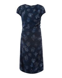 Vivienne Westwood Red Label Blue Navy Floral Print Cap Sleeve Dress