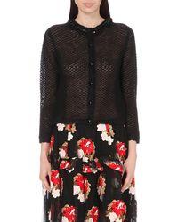 Simone Rocha | Black Embellished Merino & Cashmere Sweater | Lyst