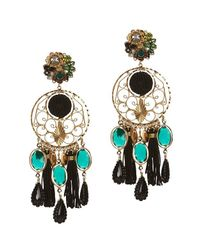 Mercedes Salazar - Green Fiesta Chandelier Earrings - Lyst