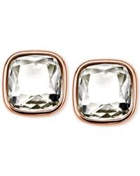 Michael Kors | Pink Crystal Stud Earrings | Lyst