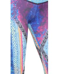 Onzie - Blue Mix Leggings - Lyst